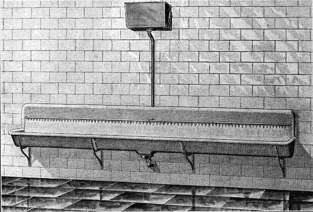 a 1912 urinal trough for men illustrated