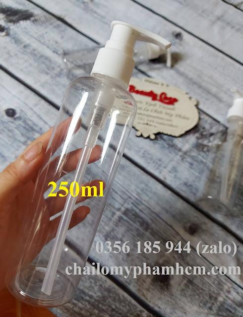 Chai nhựa xịt giọt 250ml