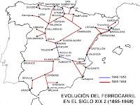 Resultat d'imatges de xarxa ferroviària espanyola del segle XIX