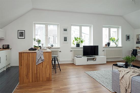 ilha na cozinha, apartamento pequeno, espaço integrado