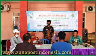 Mujiono, S.E., Kepala Desa Gudang, Salurkan Bantuan Langsung Tunai Dana Desa (BLT DD) kepada masyarakat yang terdampak pandemi covid 19.