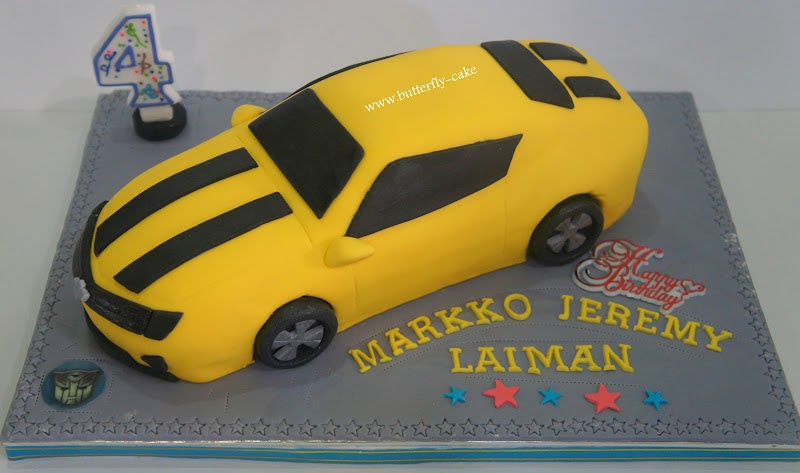 Butterfly Cake 3d Bumble Bee Transformer Cake