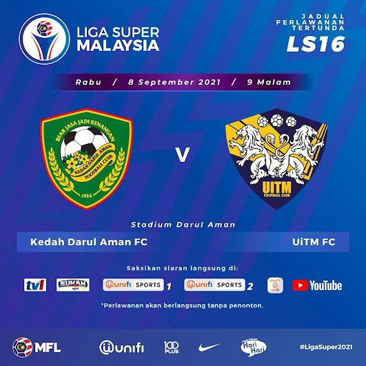 Siaran Langsung Kedah vs Uitm FC 8.9.2021
