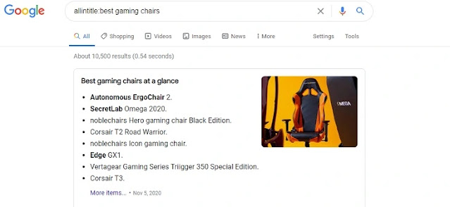 allintitle:best gaming chairs