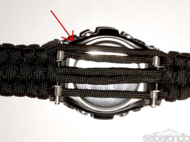 tali gelang strap jam tangan watch paracord diy survival bushcraft pendaki pendakian