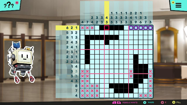 Murder by Numbers picross gameplay nonogram plunger