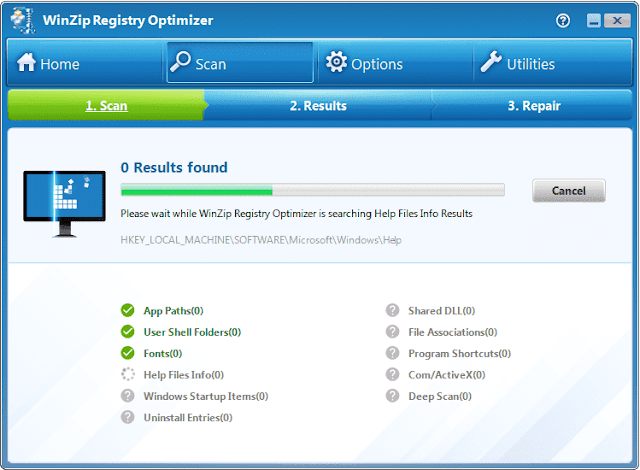 Screenshot WinZip Registry Optimizer 4.22.0.26 Full Version