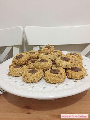 Yiyen bir daha yiyecek- Çikolatalı fındıklı kurabiye