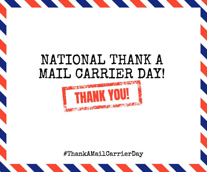 National Thank a Mail Carrier Day Wishes Sweet Images