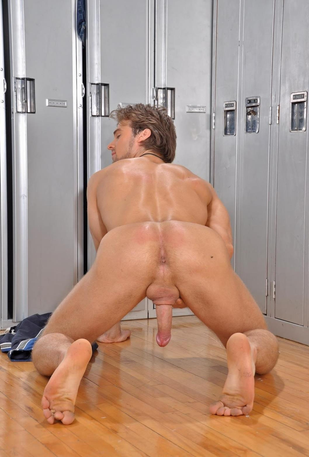 Naked guy ass
