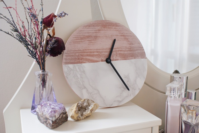 diy clock marble copper francinesplace