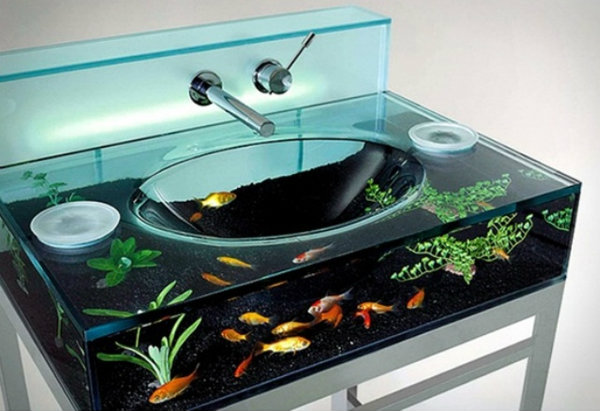 Aquarium Sink Idea ForThe Bathroom! Home Decor