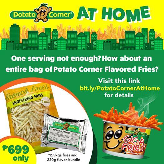 Potato Corner At Comfort of Your Home