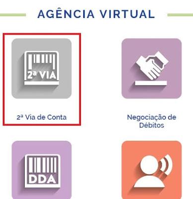 Print da Agência virtual Compesa