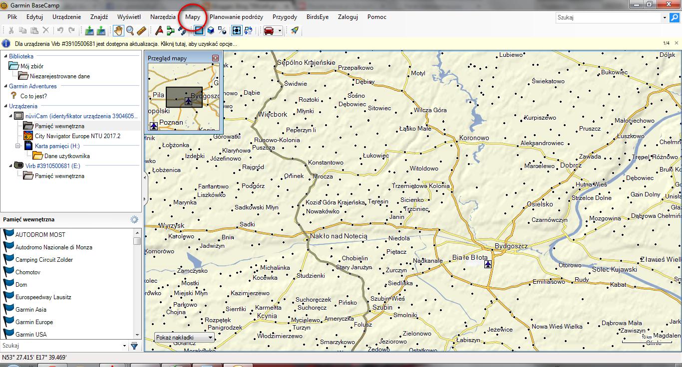 Planowanie Trasy W Nawigacji Garmin Za Pomocą Programu Garmin Base