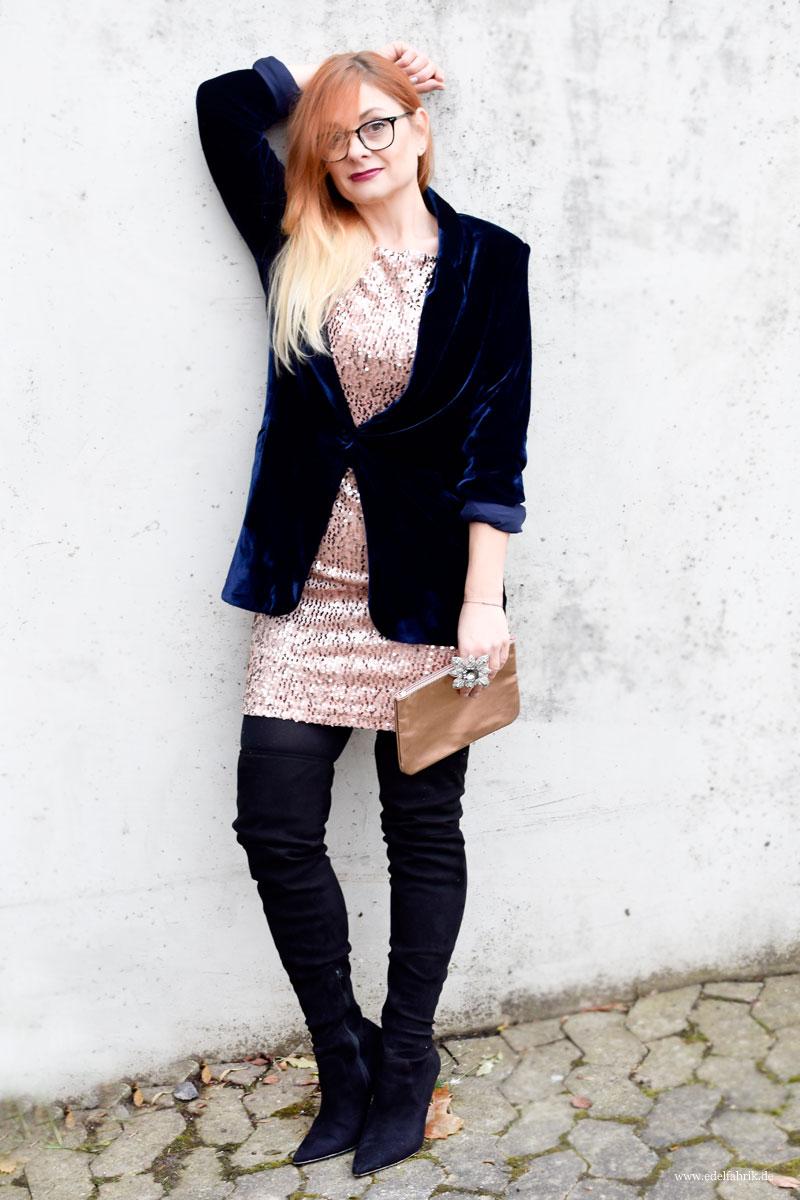 Paillettenkleid aus der neuen Heidi Klum für Lidl Kollektion, Let's Celebrate