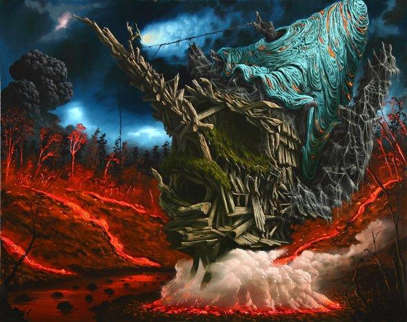 Fulvio Di Piazza pinturas a óleo surreais formas texturas