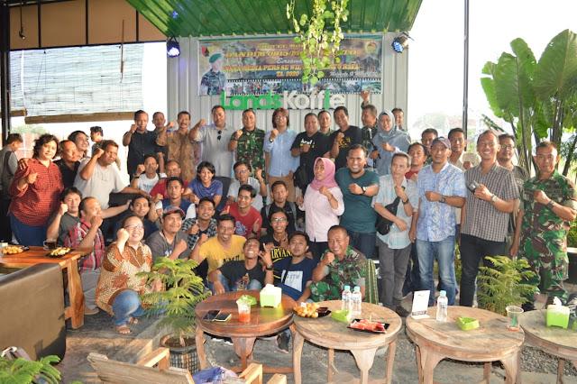 Ngopi Bareng, Dandim 0815/Mojokerto Ajak Media Ciptakan Kondusifitas Wilayah
