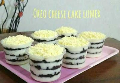 Resep Oreo cheese cake lumer
