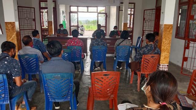 Melalui Personel Koramil 03/Siantar Selatan Jajaran Kodim 0207/Simalungun Hadiri Rapat Dikantor Camat