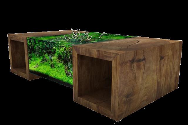 meja lucu konsep alam
