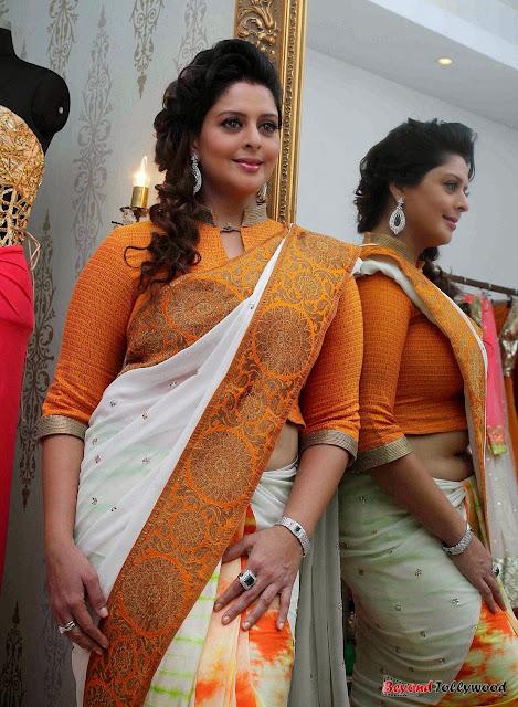 Actress Nagma in saree