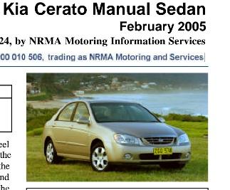 Kia       Cerato    Manual  Download Manual PDF Online