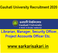 Gauhati University has released a recruitment notification for 7 posts of Librarian, Deputy Librarian, Estate Officer, Manager GU Press, Project Accounts Officer, Secretary to the Registrar, Security Officer. Interested candidates may check the vacancy details and apply Offline.