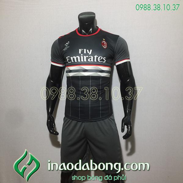 Áo bóng đá training CLB AC Milan màu đen 2020
