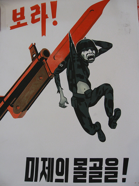 Military North Korean Propaganda Posters Vintage Everyday