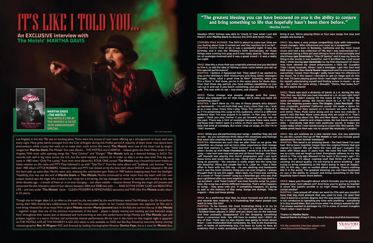 Discussions Magazine Music Blog: October 2015