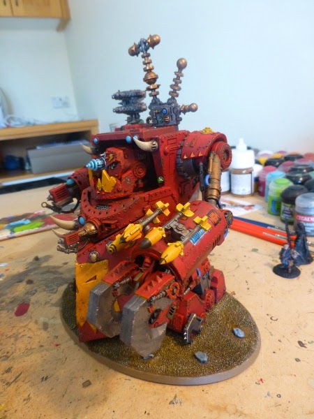 40K WIP ork morkanaut ready for pigments 2