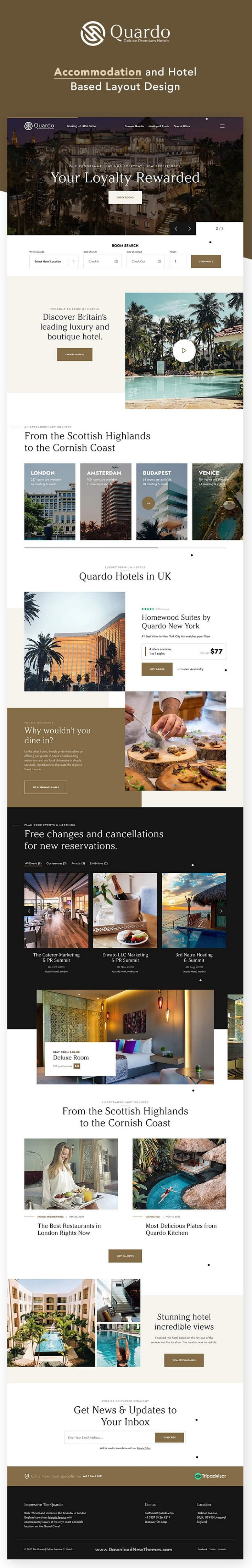 Deluxe Premium Hotels Bootstrap Template