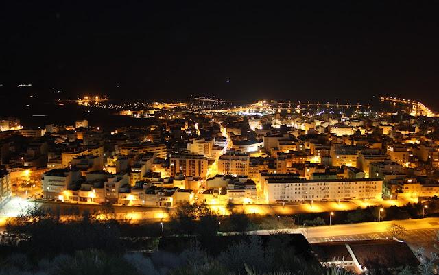 Vistas nocturnas de San Carlos de la Rápita