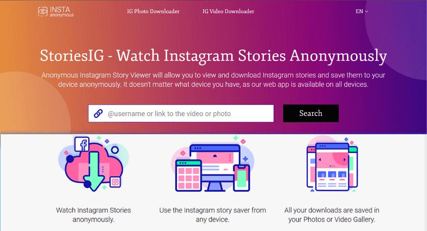 StoriesIG 匿名觀看 Instagram 限時動態,輕鬆下載照片和影片