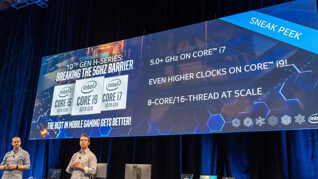 Intel 在 CES 展前預告新版 10 代 Core i H系處理器推出消息