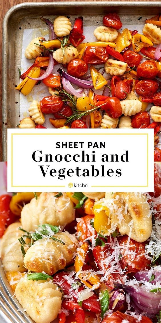 A one-pan dinner of roasted gnocchi and vegetables that doesn't even require you to boil the dumplings.
