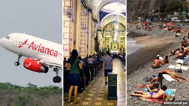 Atorizan iglesias, playas y vuelos internacionales en Perú