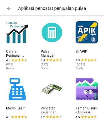 Aplikasi pencatatan penjualan pulsa