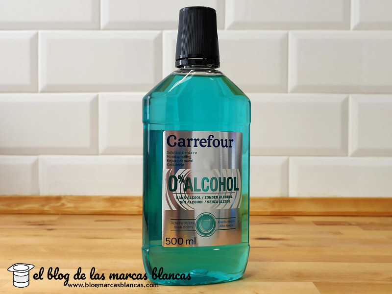Enjuague bucal sin alcohol (tipo Listerine Zero) CARREFOUR