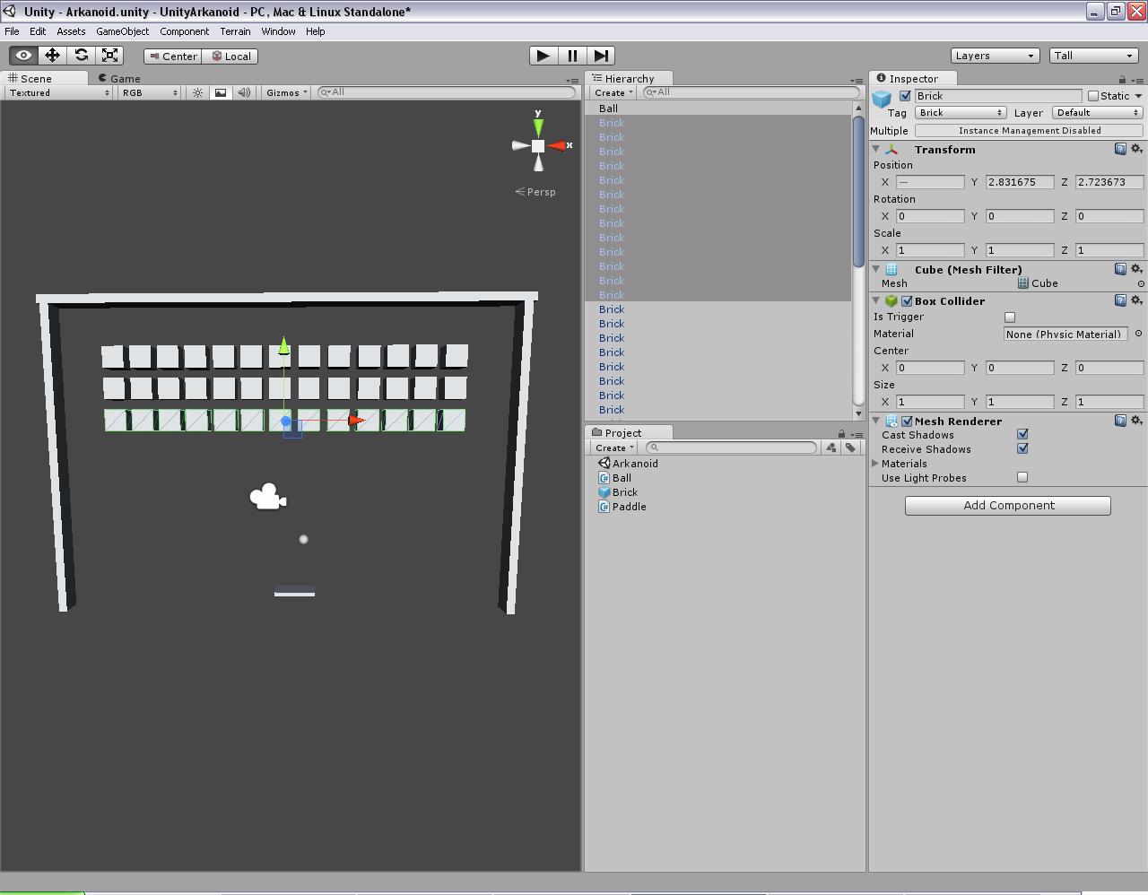 Programmer's Ranch: Unity3D: Arkanoid