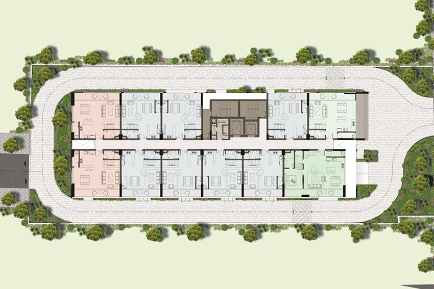 Mặt bằng tầng 14 penthouse Harina View