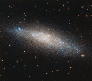 spiral galaxy NGC 4455 in the northern constellation of Coma Berenices