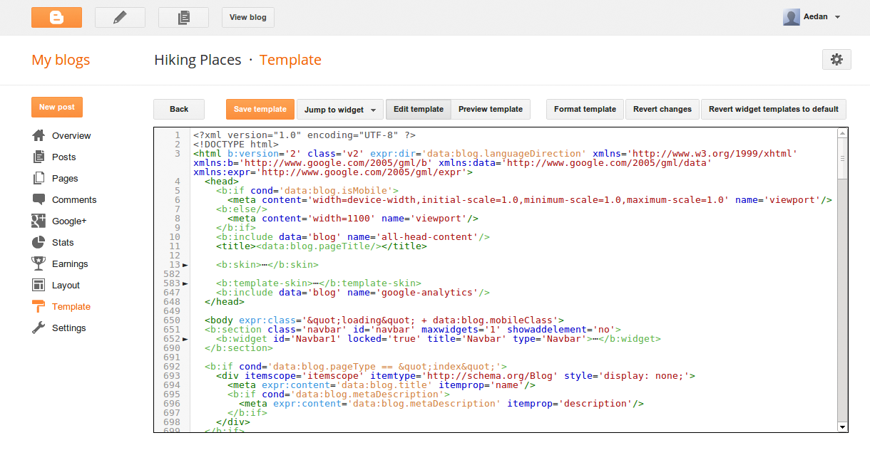 Blogger Developers Improvements To The Blogger Template Html Editor