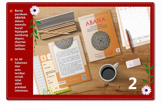 Buku Menulis Khat Arab ABANA [Jilid 2]