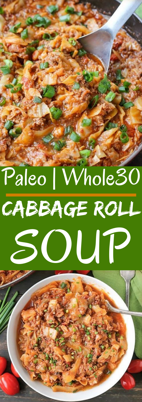 Paleo Whole30 Cabbage Roll in a Bowl #healthy #paleo