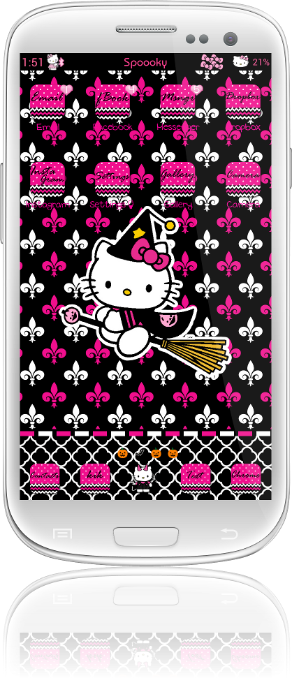 Pretty Droid Themes Spooky Hello Kitty Theme For Go