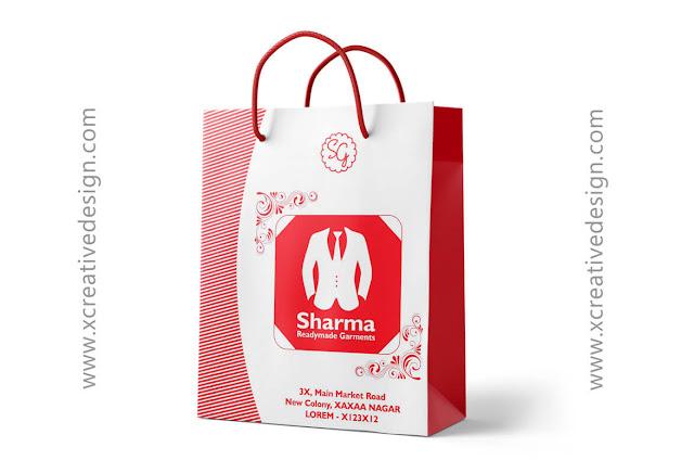 Carry Bag Design For Cloth Shop