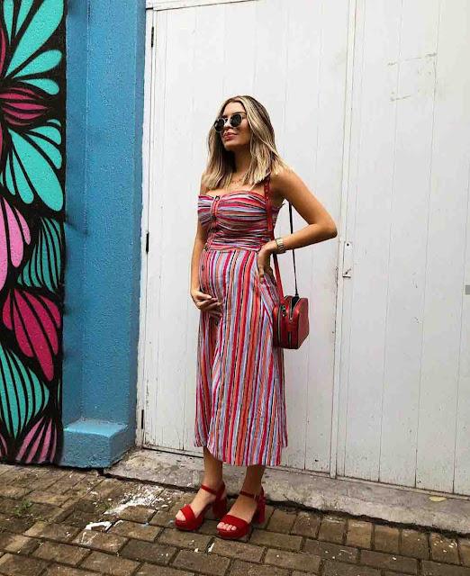 Looks de grávida por Izah Menezes