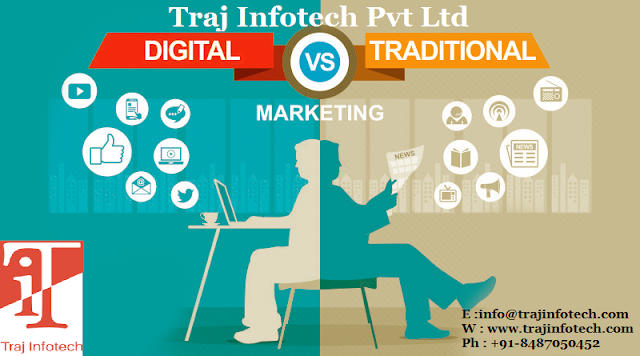 Digital Marketing vs Traditional Marketing - Traj Infotech